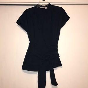 Worthington Black Wrap Dress shirt